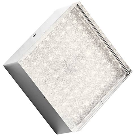 "Elan Gorve Chrome 7"" Wide 1-Light LED Square Wall Sconce"