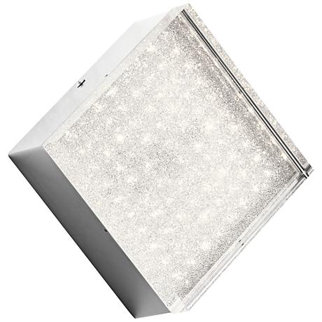 "Elan Gorve Chrome 7"" Wide 1-Light LED Square Wall Sconce"
