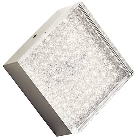 "Elan Gorve Nickel 7"" Wide 1-Light LED Square Wall Sconce"