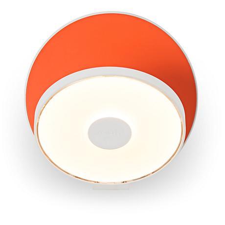 "Koncept Gravy 5"" High Matte Orange LED Wall Sconce"