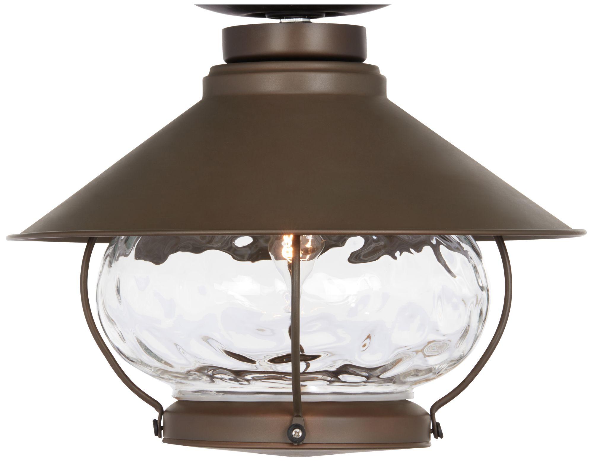 Lantern-Style Oil-Rubbed Bronze Outdoor Fan Light Kit  sc 1 st  L&s Plus & Lantern-Style Oil-Rubbed Bronze Outdoor Fan Light Kit - #1X964 ... azcodes.com