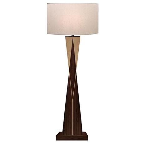 Kingsman Natural Walnut and Maple Wood Floor Lamp