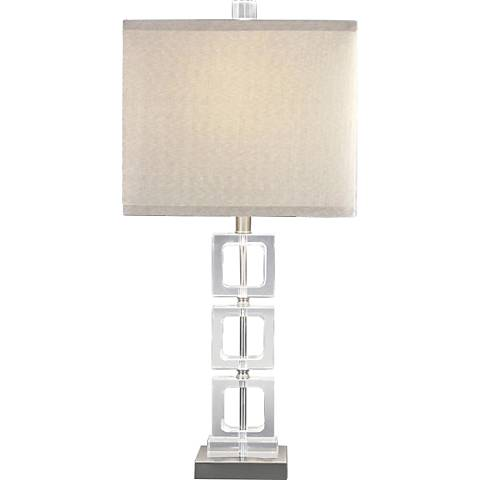Modern Classic Chrome Crystal Table Lamp