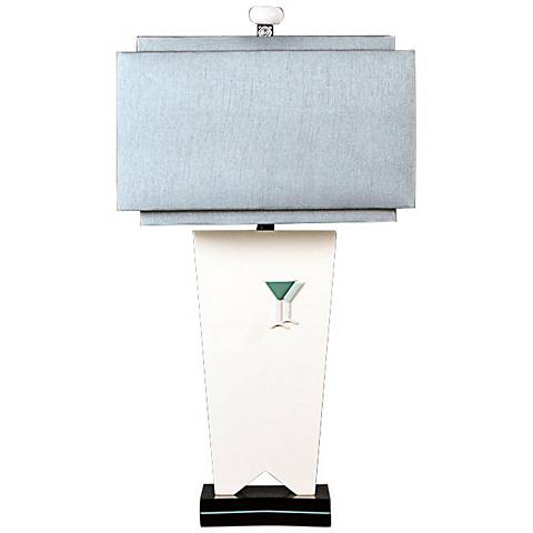 Happy Hour Off-White Modern Table Lamp