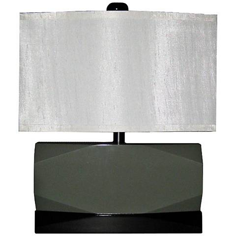 Faceted Gray and Black Modern Short Table Lamp