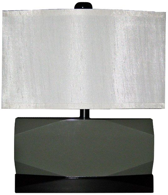 Awesome Faceted Gray And Black Modern Short Table Lamp