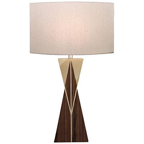 Kingsman Natural Walnut and Maple Wood Table Lamp