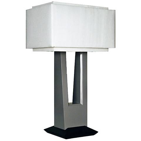 Star Gate Gray and Black Modern Table Lamp