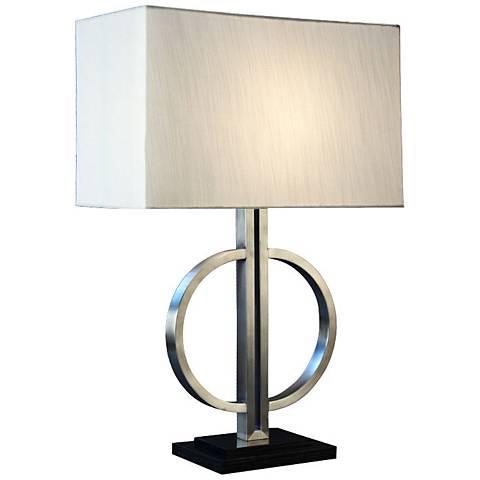 Unity Brushed Steel Metal Table Lamp