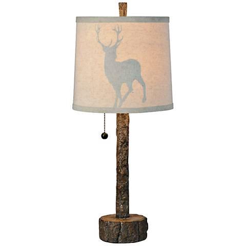 Aspen Weathered Bark Look Buffet Table Lamp