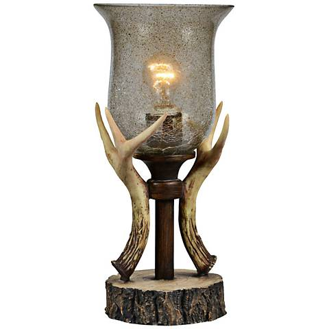 "Bo 16"" High Antler Uplight Accent Table Lamp"