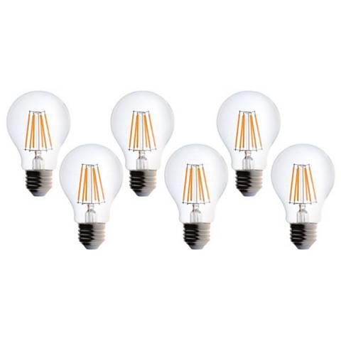 6 Watt LED 540 Lumen A19 Filament Light Bulb 6-Pack