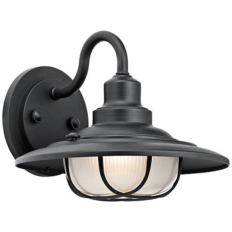 "Kichler Harvest Ridge 9"" High Black Outdoor Wall Light"