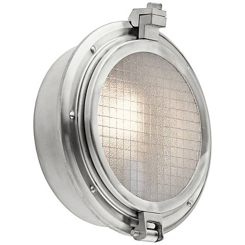"Kichler Clear Point 12 1/4""H Aluminum Outdoor Wall Light"