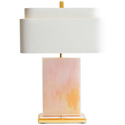 Couture Mirage Pink and Gold Table Lamp