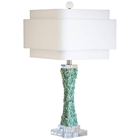 Couture Cienega Green Quartz Stone Table Lamp