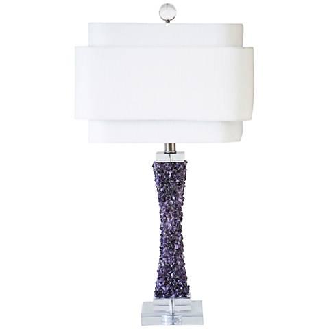 Couture Cienega Purple Quartz Stone Table Lamp