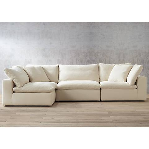 Skye Classic Natural 4 Piece Modular Sectional 1y166