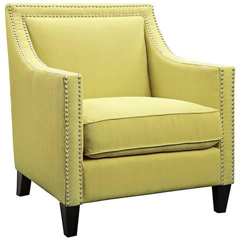 Flynn Aria Lemon Fabric Armchair