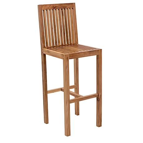 "Zuo Trimaran 31 1/2"" Natural Teak Wood Bar Chair"