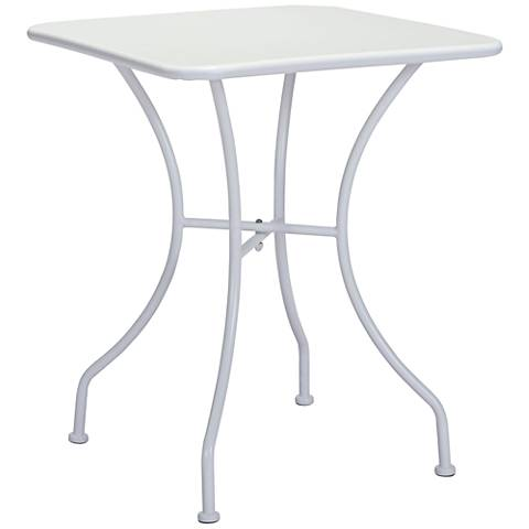 Zuo Oz Electro White Square Metal Outdoor Dining Table