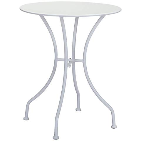 Zuo Oz Electro White Round Metal Outdoor Dining Table