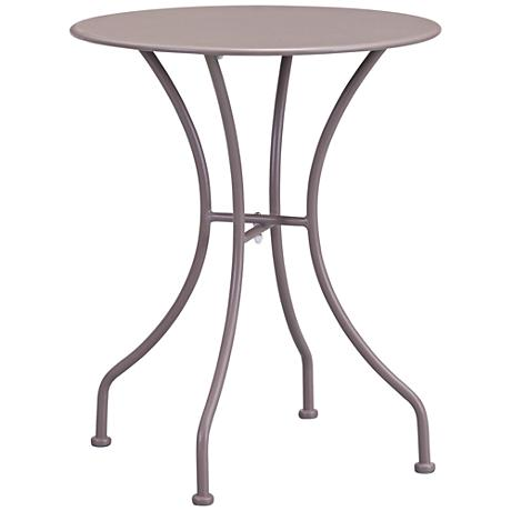 Zuo Oz Electro Taupe Round Metal Outdoor Dining Table