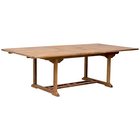 Zuo Regatta Natural Wood Outdoor Extension Dining Table
