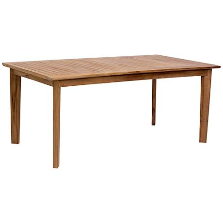 Zuo Nautical Outdoor Natural Teak Dining Table