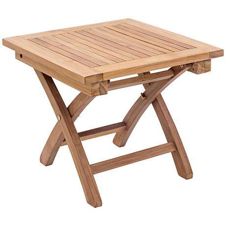 Zuo Starboard Natural Wood Outdoor Side Table
