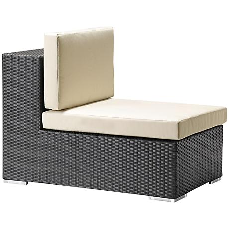 Zuo Cartagena Espresso and Beige Outdoor Middle Chair