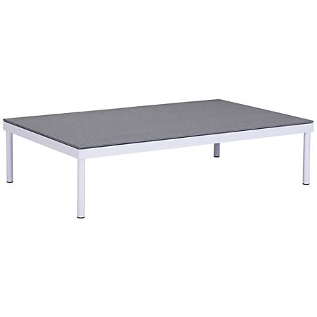 Zuo Maya Beach Granite Top and White Outdoor Coffee Table