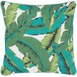"Surya Ulani Tropical Leaves 16"" Square Indoor-Outdoor Pillow"