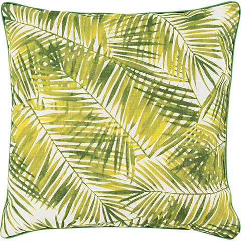"Surya Ulani Palm Fronds 16"" Square Indoor-Outdoor Pillow"