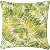 "Surya Ulani Palm Fronds 20"" Square Indoor-Outdoor Pillow"