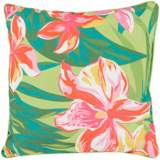 "Surya Ulani Large Flowers 20"" Square Indoor-Outdoor Pillow"
