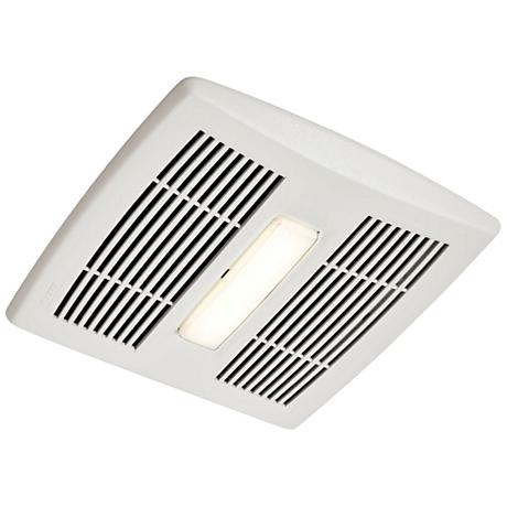 Broan Invent Led White 80 Cfm 0 8 Sones Lighted Bath Fan