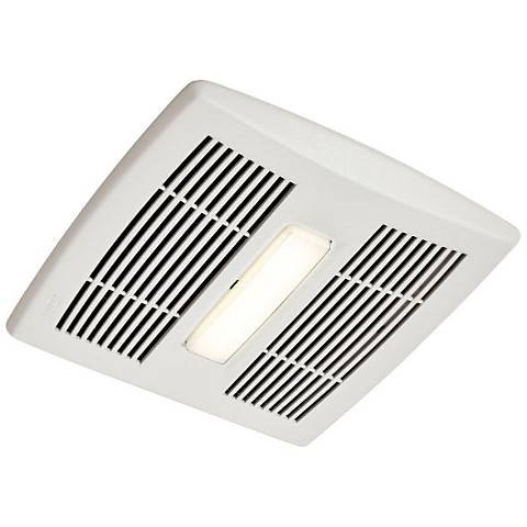 Broan InVent LED White 110 CFM 1.3 Sones Lighted Bath Fan