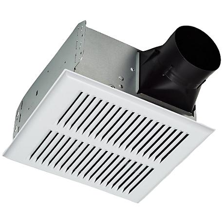 Broan Invent White Metal Grill 80 Cfm 2 0 Sones Bath Fan