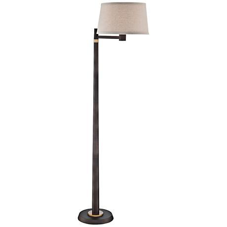 Lite Source Tarika Burnished Bronze Floor Lamp