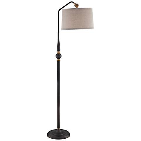 Lite Source Heinz Burnished Bronze Arc Floor Lamp
