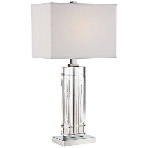 Lite Source Chrome Crystal Table Lamp