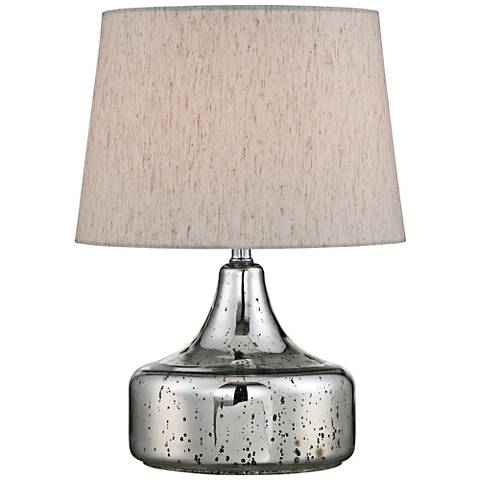 "Lite Source 20""H Chrome Glass Accent Table Lamp"