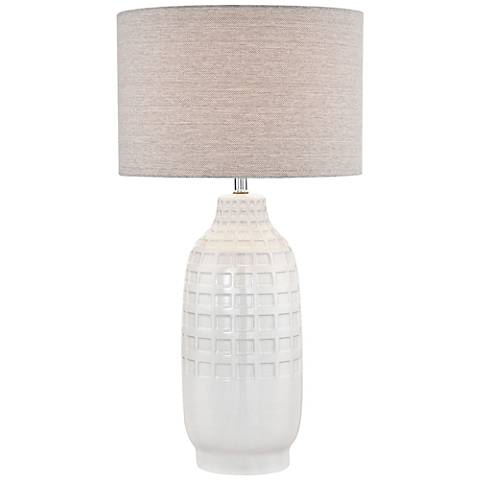 Lite Source Glossy Ivory Ceramic Table Lamp