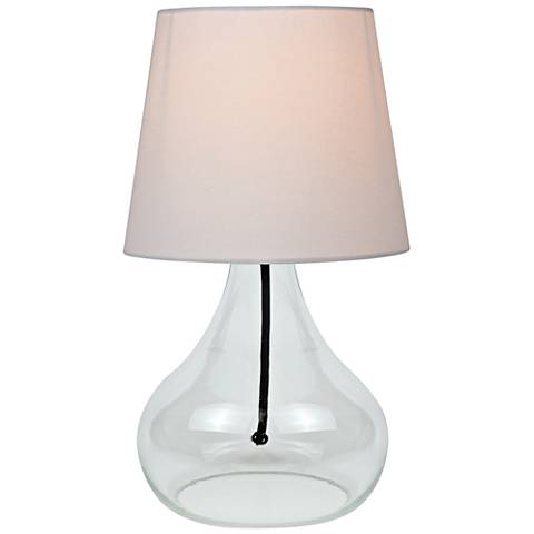 """Lite Source 14""""H Clear Glass Jar Accent Table Lamp"""