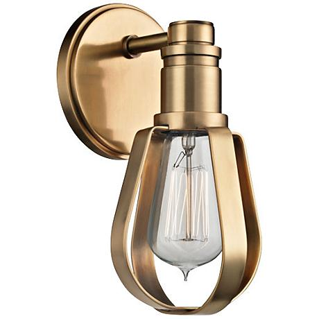 """Hudson Valley Red Hook 9 1/4"""" High Aged Brass Wall Sconce"""