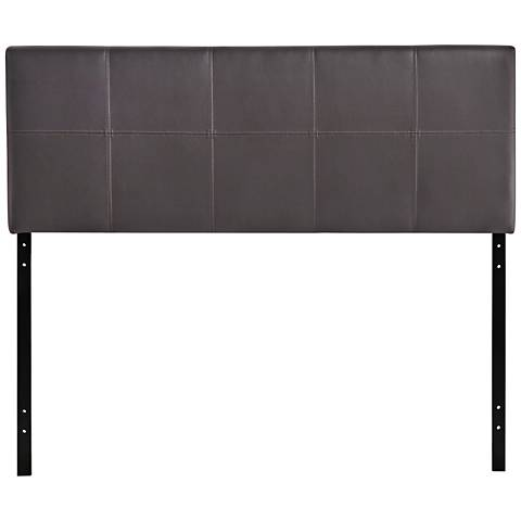 Oliver Brown 10-Square Stitch Full Faux Leather Headboard