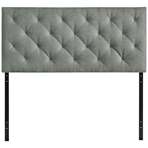 Theodore Gray Diamond-Tufted Fabric Headboard