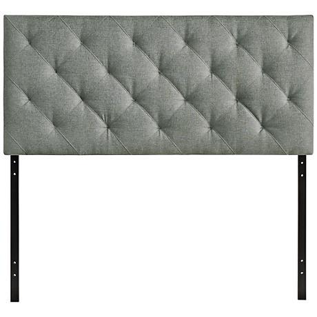 Theodore Gray Diamond-Tufted Fabric Headboard