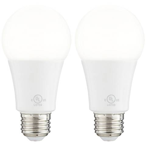 60 Watt Equivalent Frosted 9W LED Dimmable Standard 2-Pack